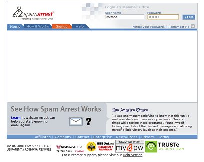 Spam Arrest Graphic