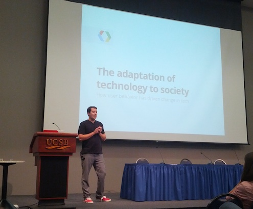 Speaking at UCSB