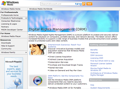 Windows Media DRM Content